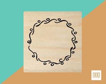 Fancy Wreath-1 - 6cm Rubber Stamp (DODRS0014)