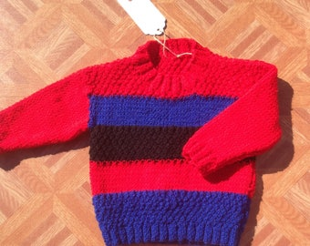 Childrens 6-12 months boys stripey jumper