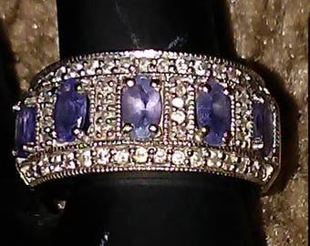 Tanzanite & Diamond 14k Gold Ring #L