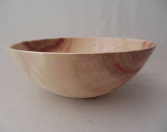 Decorative Wooden Bowl Flame Box Elder Hand Turned