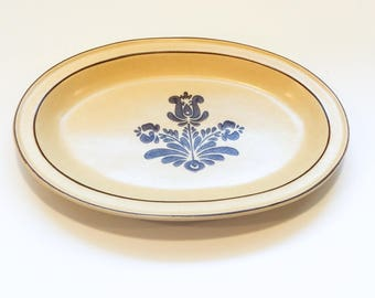 """Discontinued 12"""" Oval Serving Platter in Village (Made in USA) by Pfaltzgraff"""