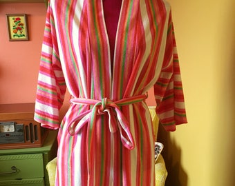 Vintage sherbet terry cloth robe