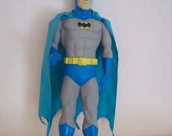 """Batman Action Figure DC Comics 1988 Vinyl 15"""" Blue and Gray"""