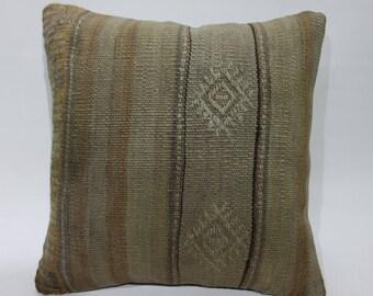 "16"" x 16 kilim pillow outdoor cushion antique furniture floor pouf pillow sham body pillow kilim pillow cover handmade pillow   2772"