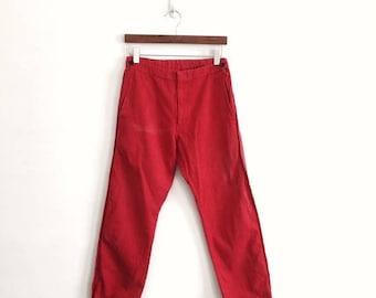 "25% DROP COMME des GARCONS Homme Plus Ad1998 Red Wool Pants 30""x36.5""Rare Junya Watanabe Rei Kawakubo Yohji Yamamoto Issey Miyake"