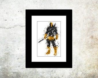 Deathstroke Spatter Art