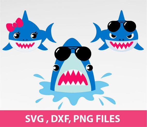 Shark Svg Shark With Sunglasses Svg Shark With Bow Svg Jaws
