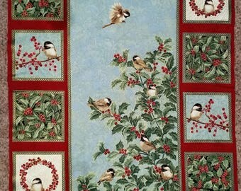 Chickadees and Berries - Panel - Benartex - Lovely Panel!