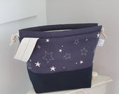 Twinkle Twinkle Embroidered Drawstring Project Bag