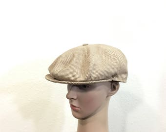 70's vintage kangol newsboy cap made in england size 7 1/4