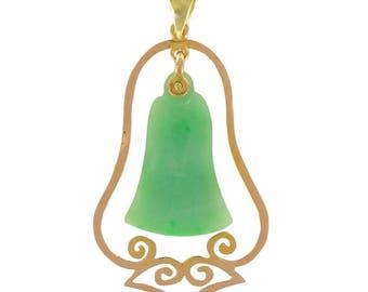 Jade gold pendant