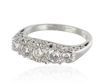 Ring gold diamonds white garter