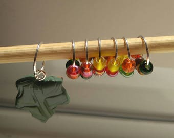 Fall Leaves Stitch Markers (Set of 7)