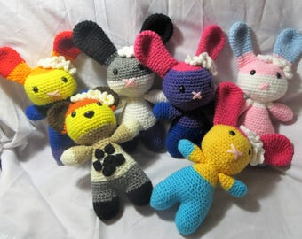 Crocheted PRIDE Love Bunnies