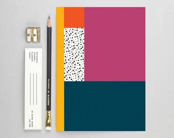 Pink Geometric Pattern Notebook