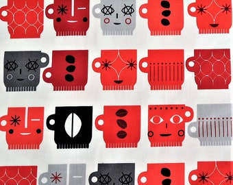 Metro Cafe by Suzy Ultman for Robert Kaufman, Red 1/2 Yard