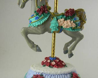 """Heritage House Melodies Country Fair Collection Carousel Music Box """"Unchained Melody"""""""