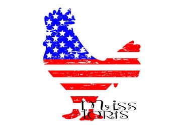 Rooster Flag Distressed   SVG   cut file  t-shirts  animalsscrapbook vinyl decal wood sign cricut cameo Commercial use