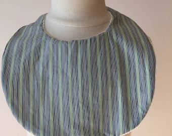 Striped cotton baby bib