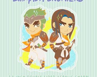 "SHIMADA BROTHERS - 2.5"" acrylic keychain (PREORDER)"