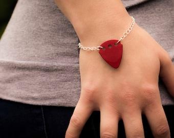 Guitar Pick Bracelet (Red)