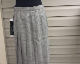 Deadstock, Skirt, Size 14 Petite, Vintage Sag Harbor, Pleated Skirt, Professional Women,