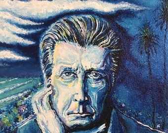 """Brian Wilson Acrylic Painting """"Pacific Blue"""""""