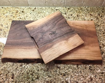 Live Edge Black Walnut Cutting Board and Serving Tray