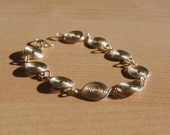 Silver Spiral Bracelet in Fine Silver (closed spirals) jewellery