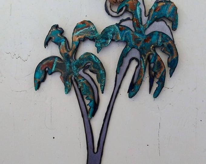 Patina Palm Trees Ornament