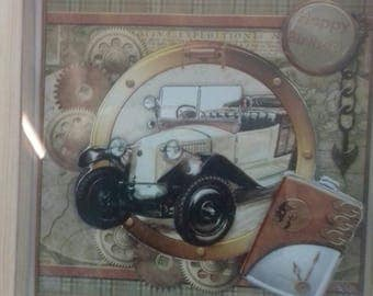 Framed picture .car