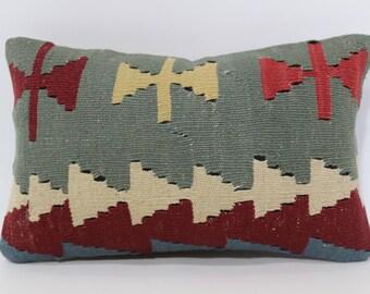 10x16 Turkish Kilim Pillow Lumbar Kilim Pillow Sofa Pillow Ethnic Pillow 10x16 Turkish Kilim Pillow Floor Pillow Cushion Cover SP2540