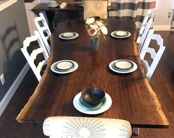 live edge dining room table. Rare Claro Walnut Live Edge Table edge table  Etsy