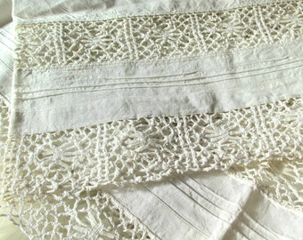 Bobbin lace bed sheets - antique romantic bed sheets