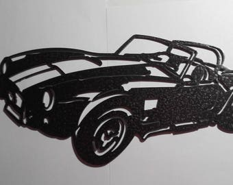 Plate AC cobra iron sign painted hammered effect finish