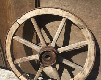 Primitive Wood Wagon Wheel