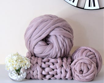 Giant yarn Extreme Arm knitting wool Chunky knit 100 % merino wool very thick yarn for extreme arm knitting, weight bundles from 0.5-5kg