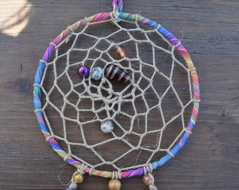 Rainbow Beaded Dreamcatcher