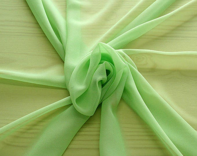 316086-natural Silk Georgette 100%, width 135/140 cm, made in Italy, dry cleaning, weight 50 gr