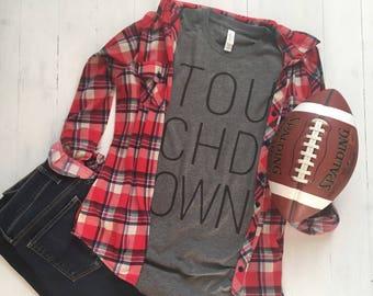 Super Bowl Shirt. Game Day Shirt. Womens Football Shirt. Football Tshirt. Sunday Funday Shirt. Tailgating Shirt.. Touchdown Shirt.