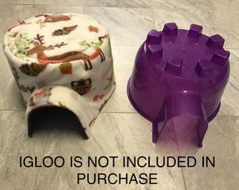 THERMAL Lined Igloo Fleece Cover (made exclusively for Super Pet Large Igloo)