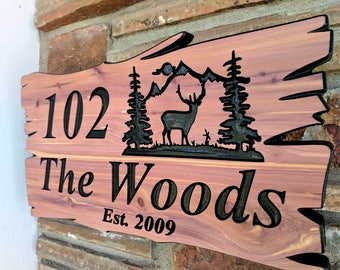 Custom Wood Sign | Personalized Sign | Carved Wood Sign | Wood Sign | Outdoor Wood Sign | Rustic Home Decor | Family Name Sign | Engraved