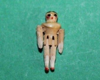 Vintage Dolls House Tiny Grodnertal Doll