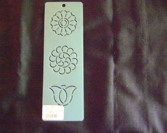 Quilting Stencil Mini Asian Flower Design Block/Sashiko Embroidery/2 in. Tall and Wide
