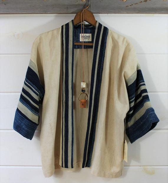 Natural + Stripe Mud Cloth Kimono