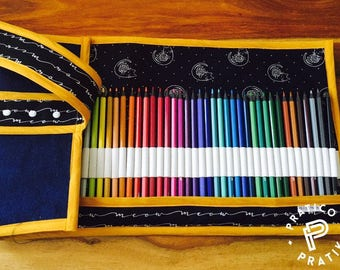 READY / pencil case each fit / artist gift / pencilcase / artistgift / cats / cat / meow