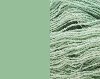 Wool Yarn, sage green, DK, 3-ply worsted knitting yarn 8/3 100g/130m