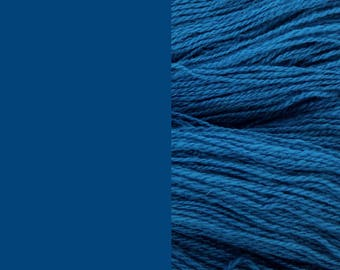 Wool Yarn, navy blue, fingering 2-ply worsted pure wool 8/2 100g/350m