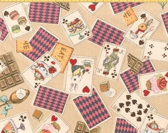 Alice in Wonderland fabric Cards by Cosmo