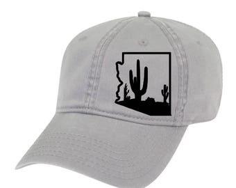 Arizona Dad Hat, Arizona Cactus Hat, Arizona hat